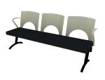 木制公共座椅3D模型下载