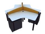 简单组合办公桌3D模型下载