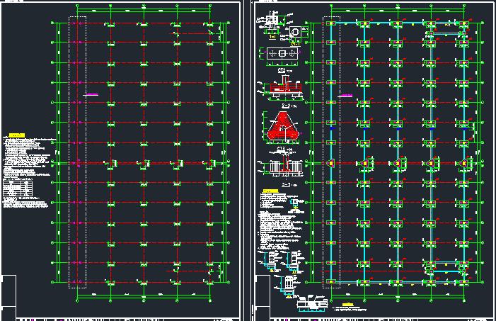 钢混框架结构拼接厂房施工图纸(含建筑结构、给排水)_6