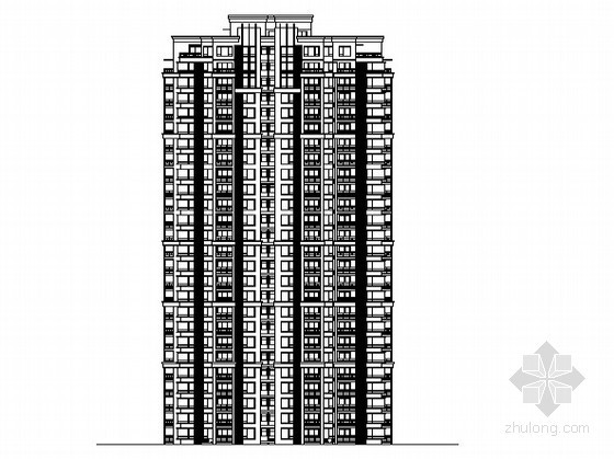 某二十六层纯剪力墙高层住宅楼建筑方案图(毕业设计)