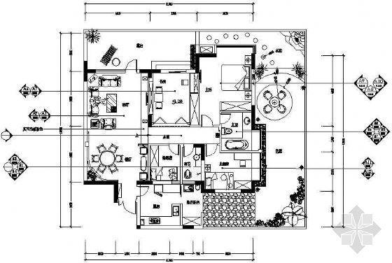 春天家居装饰四室两厅装修图
