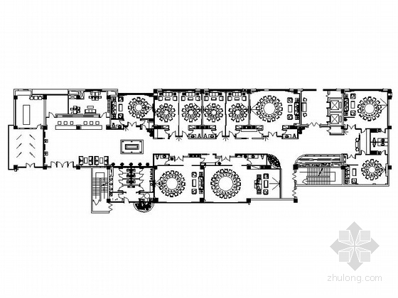 [陕西]五星级豪华酒店中餐厅室内装修施工图(含效果)