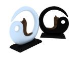 黑白太极装饰3D模型下载