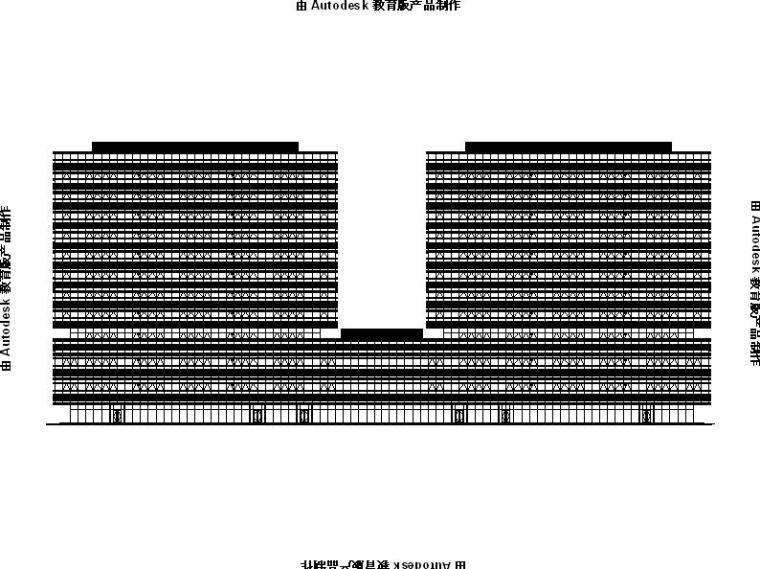 [江苏]高层框架式多功能双子塔式办公楼建筑施工图
