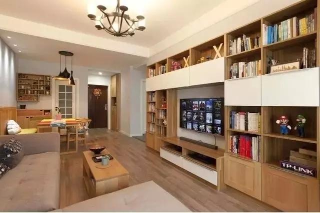 时尚客厅装修,现代简约风格客厅电视机柜效果图_3