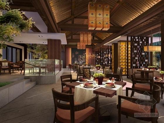 [三亚]原始热带天堂品牌国际连锁度假酒店中餐厅效果图