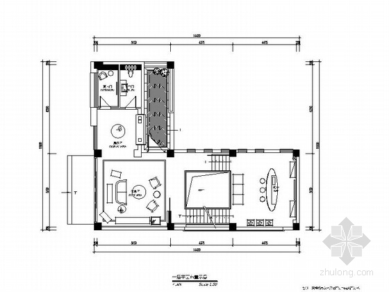 [青岛]LOFT办公室装修施工图(含效果)