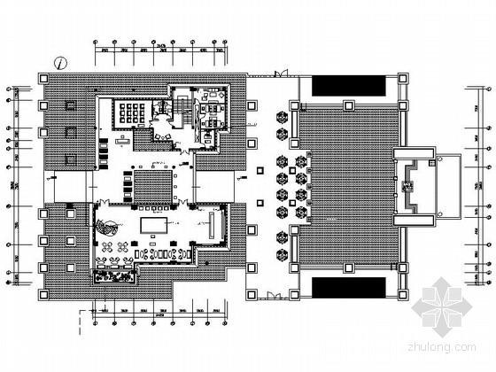 [武汉]经典古典新中式售楼中心装修设计施工图(含实景效果及手绘图)