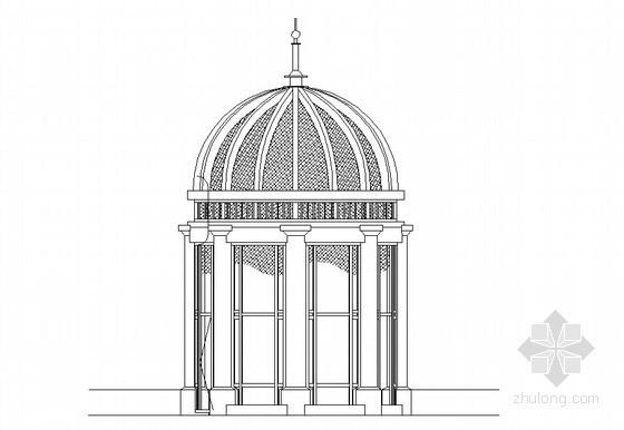 欧式景观亭结构设计详图