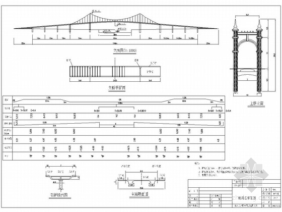 24+60+24m悬索吊桥全套施工图(57张)