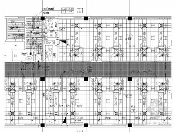 [上海]多层商业办公区空调及通风防排烟系统设计施工图(空气源热泵 多联空调机组)