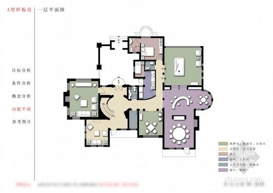 [上海]某欧式风格别墅室内设计方案图