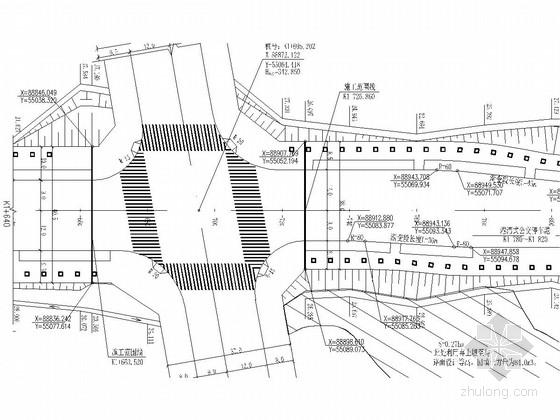 [重庆]知名大院双向四车道城市次干道全套施工图设计102张(道排 电照 综合管网)