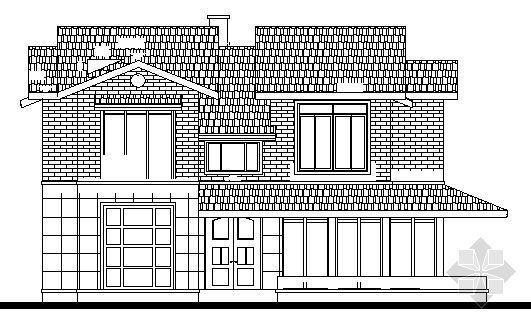 某二层别墅建筑设计方案图