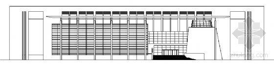 某五层校园图书馆建筑方案图