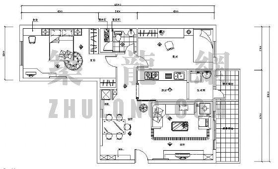 二居室小户型家居装修图