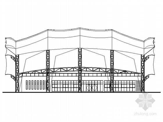 [温州]某大学膜结构网球场建筑施工图(含膜结构参数)