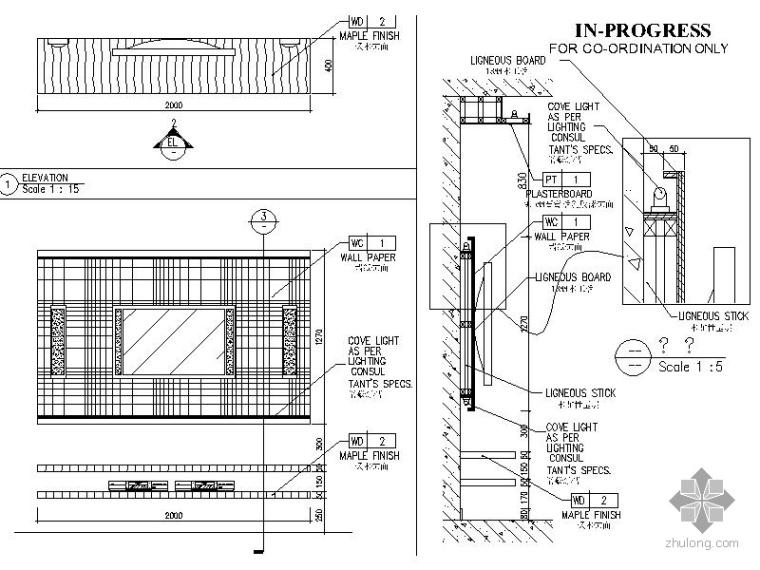 现代三居室内设计施工图(含效果)_3