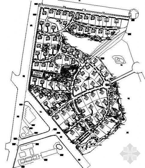 某别墅区绿化设计平面图