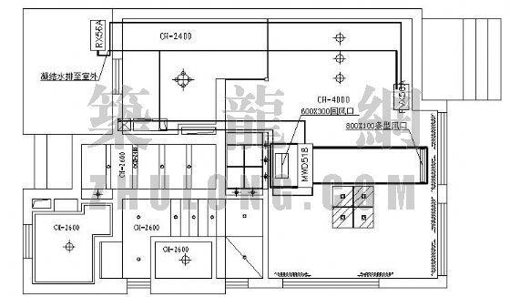 住宅VRV空调资料下载-某别墅特灵VRV空调施工图