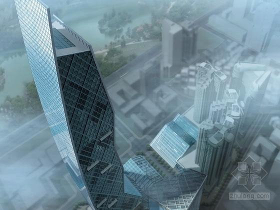 [广东]玻璃幕墙61层超高层办公楼建筑设计方案文本