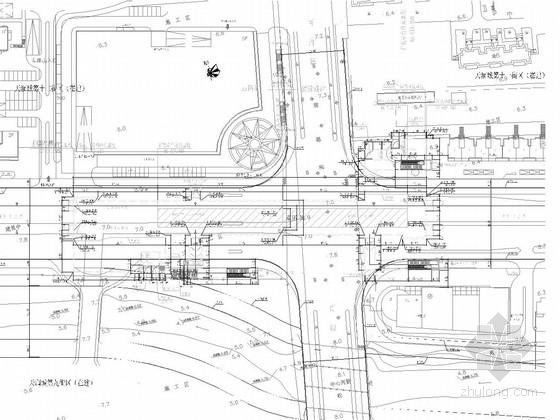 [江苏]10972平方米地下两层岛式站台地铁车站施工图60张(含出入口风亭疏散通道)