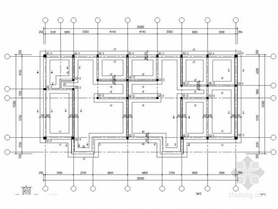 两层砌体结构私人住宅结构施工图(坡屋面一层)