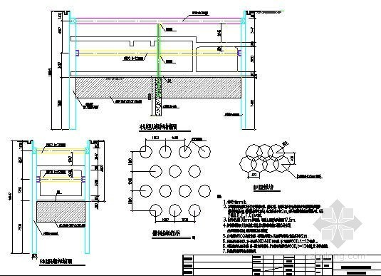 [广东]地铁车站典型风道及通道围护结构设计图