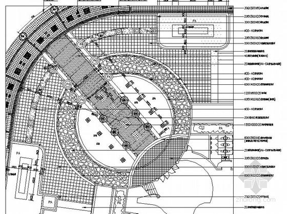 居住区会所周边环境园林景观工程施工总图