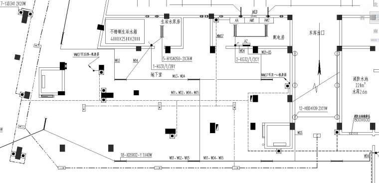 某二类商住楼电气施工图
