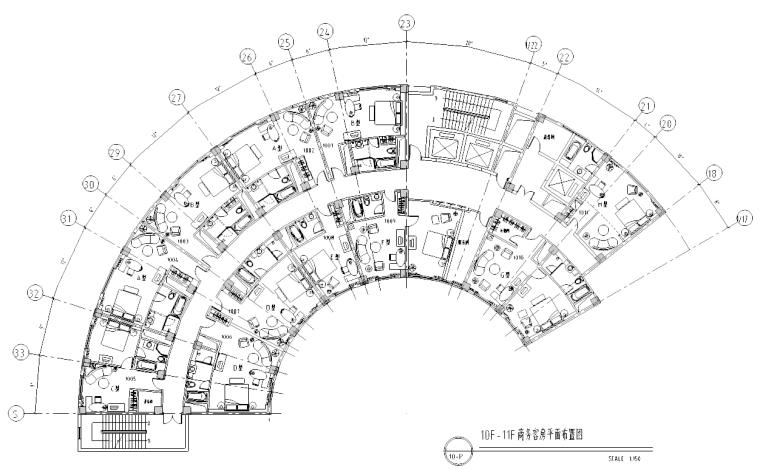 [江苏]南京某酒店商务客房室内设计施工图