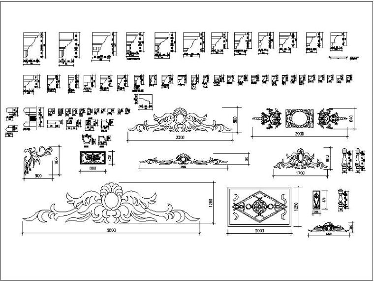 u型楼梯cad图块资料下载-欧式CAD图块