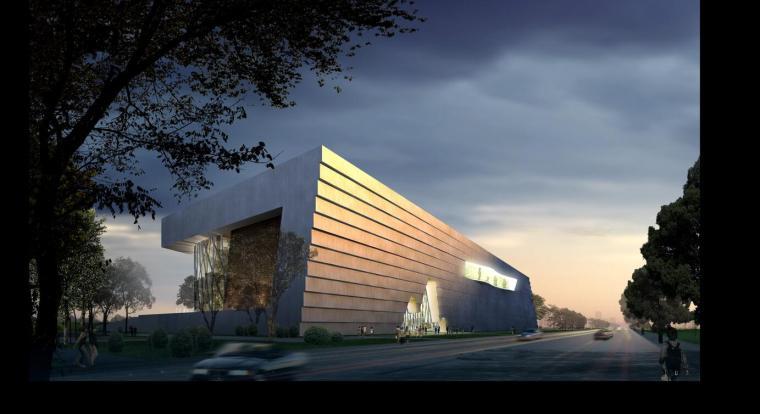 [山东]某博物馆新馆建筑设计方案设计JPG(文本)