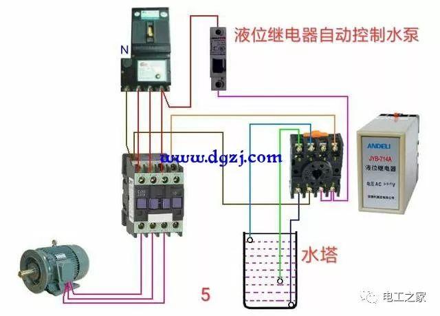 接触器控制电路实物图接线图