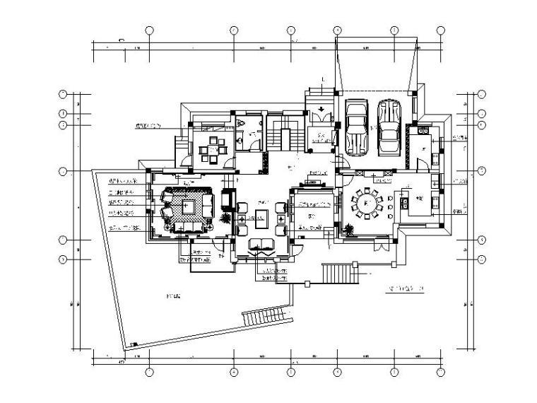 [浙江]欧式风格别墅样板房设计CAD施工图(含效果图)