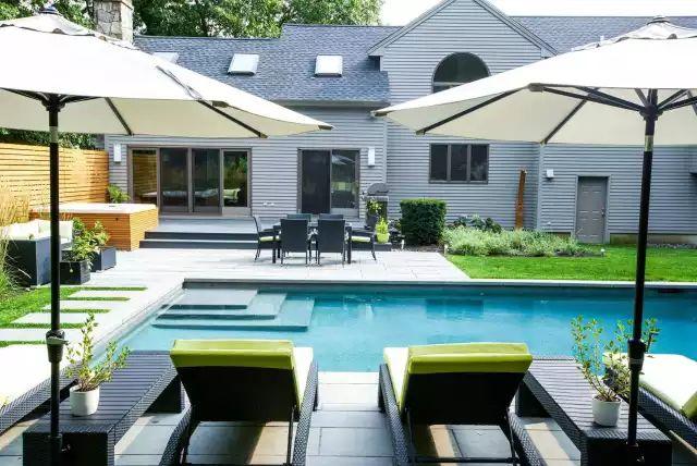 赶紧收藏!21个最美现代风格庭院设计案例_118