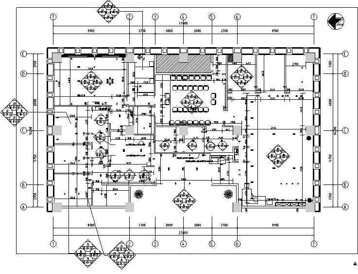 [四川]建筑工程公司办公室精装修设计施工图(附效果图+材料清单)