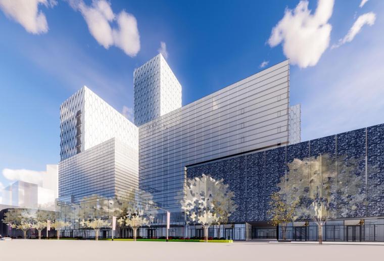 [广西]南宁绿地中心商业综合体建筑模型设计(2018年)