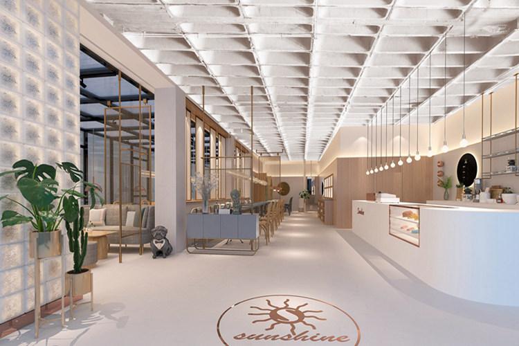 """青岛室内设计风格""""阳光不锈咖啡西餐厅""""设计案例"""