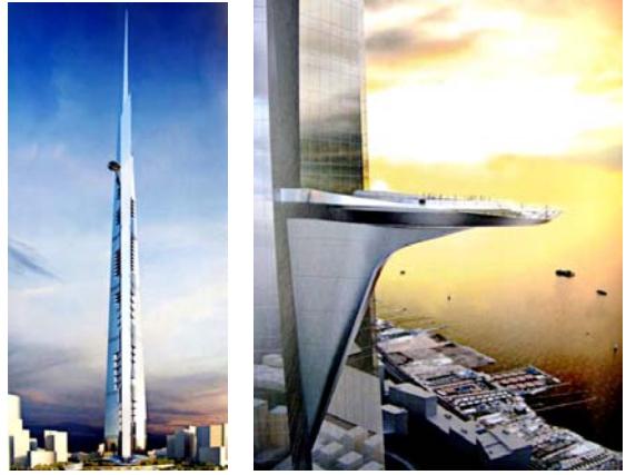 一些超高摩天大楼的结构