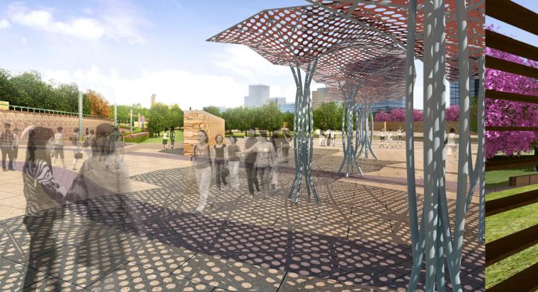 [安徽]含山县山体高差森林公园修建性详细规划设计B-8文化广场效果图