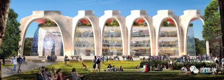 """图书馆设计方案——开放式的""""拱""""结构"""