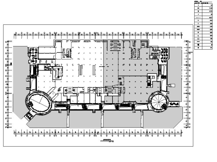 万达广场购物中心室内设计施工图(附效果图)-暖通空调定位图