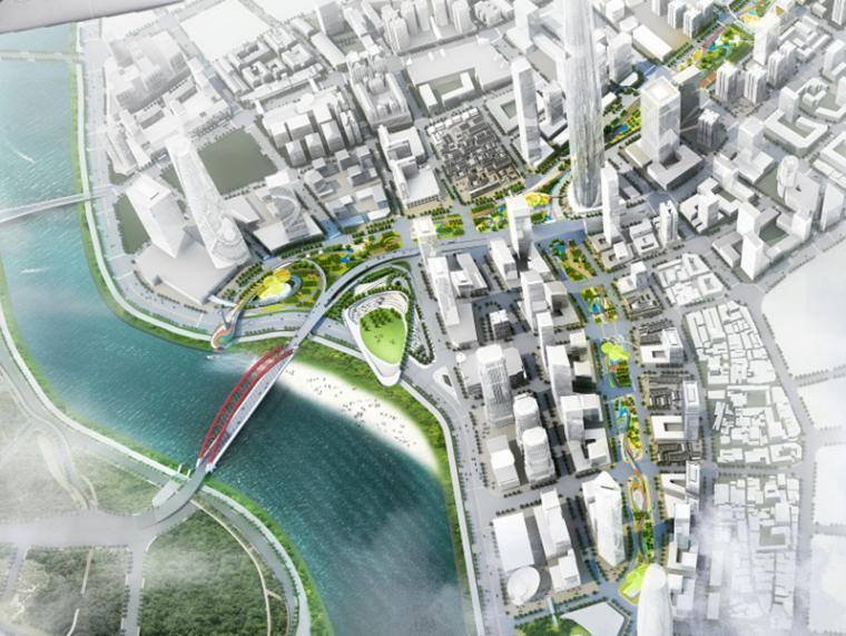 [湖北]汉正街中央服务核心区城市绿轴及地下空间景观总体设计(滨水)