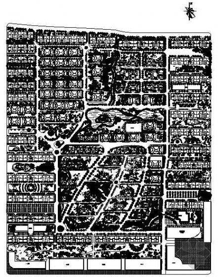 某国际花园绿化规划平面图