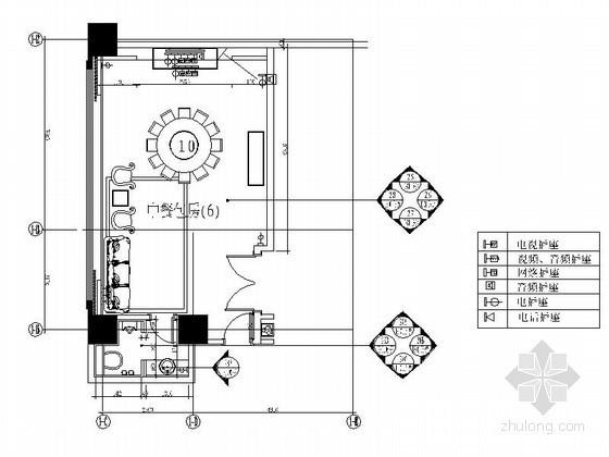 风味中餐厅包间Ⅲ室内装修图