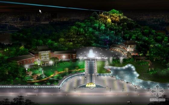 台州某广场灯光系统设计图纸及效果
