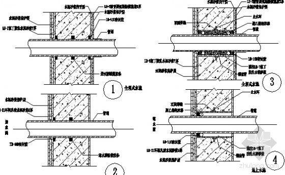 食用水池直埋式、套管式节点防水
