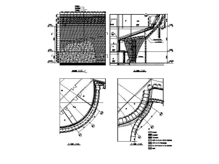 [安徽]四层弧线型文化中心钢结构玻璃幕墙施工图(16年最新)_7