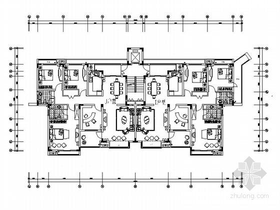 某七层别墅建筑户型图